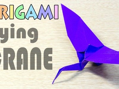 Origami Flying Crane -1 : Paper Bird Airplane Tutorial