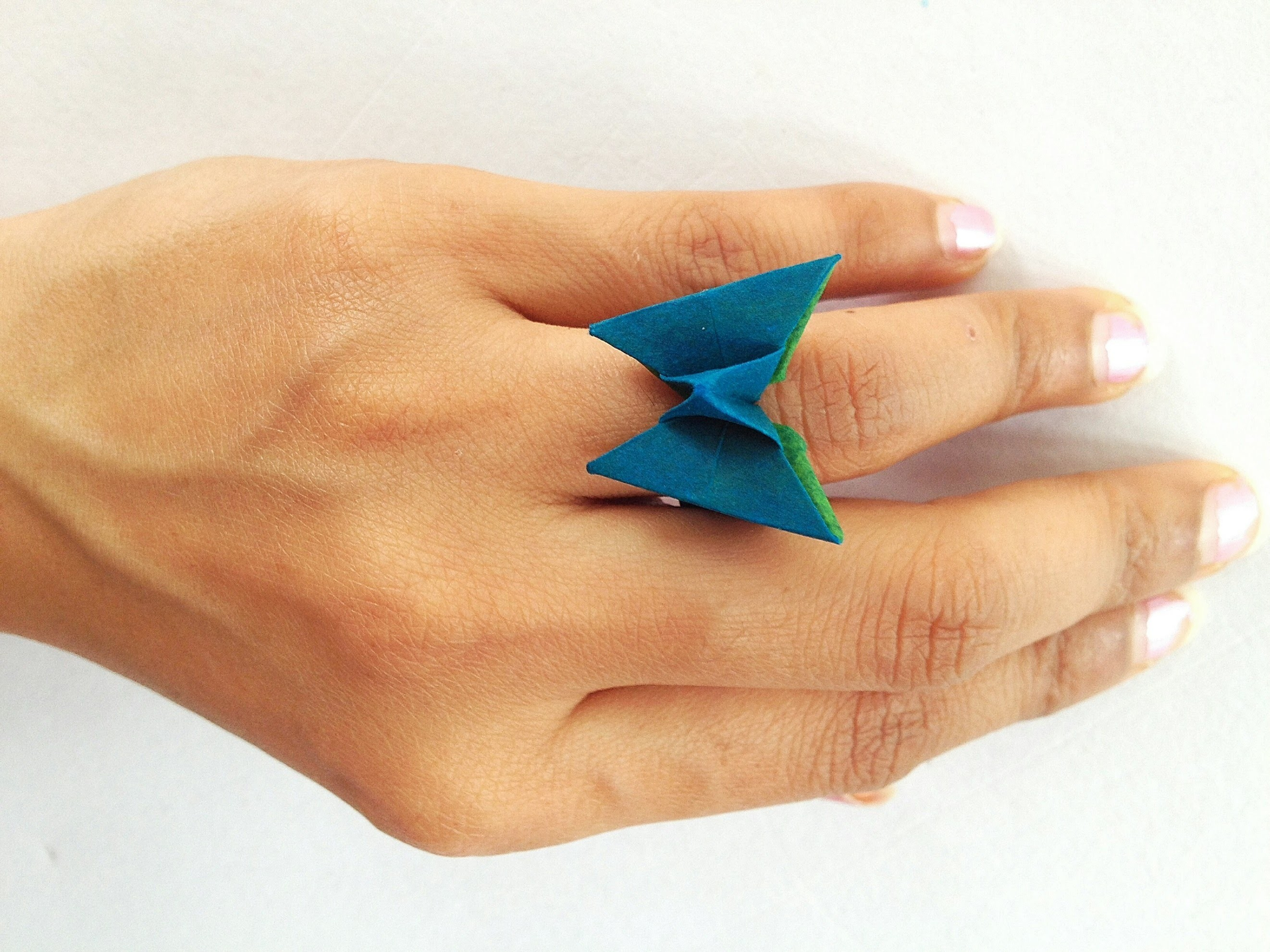 "Origami Paper - ""Butterfly Finger Ring"""