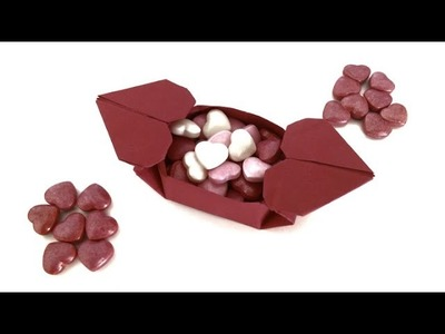 "Origami Paper - ""Dual Heart Box "" - Valentine special."
