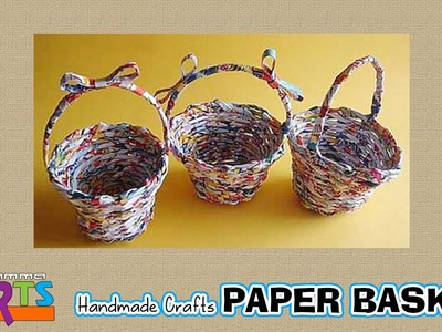 Paper Basket Making - Handmade Paper Crafts in Amma Arts
