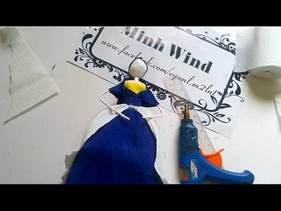 Paper Doll - Hướng dẫn làm búp bê giấy nhún