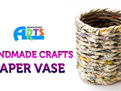 Paper Flower Vase in Handmade Crafts at Amma Arts