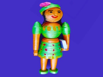 Paper quilling   3D Doll made easy