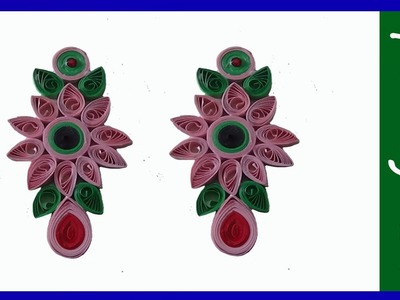 Paper quilling-earrings- jewellery making.