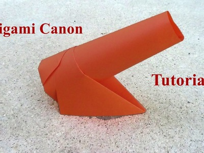 Simple Origami Canon - How to make a paper Origami Canon