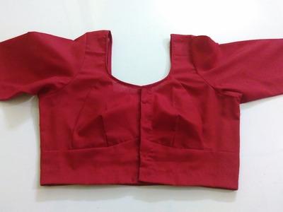 Single Katori Blouse Measurement Paper cutting and Stitching Part 5