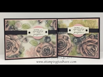 Stampin' Up! Timeless Elegance with Petite Pairs - Coloring Your Designer Series Paper