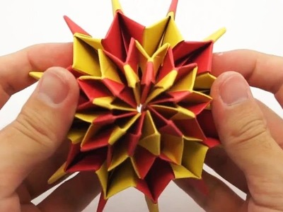 The Art of Paper Folding - How to Make an Origami Firework 3D