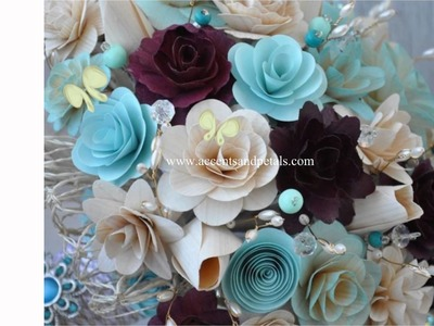 Wedding Bouquets Made of Wood, Cornhusk, Fabric and Paper Flowers