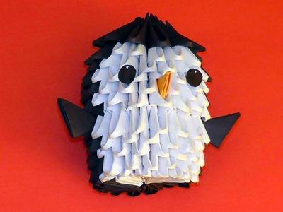 3D origami penguin tutorial for beginners