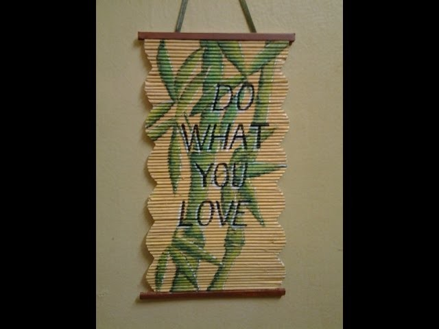 Best out of waste paper wall hanging bamboo plant for Wall hanging from waste