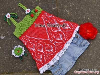 Crochet baby dress| How to crochet an easy shell stitch baby. girl's dress for beginners 200