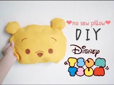 ♕Disney tsum tsum series : DIY Winnie the pooh no sew pillow♕