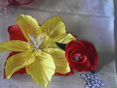 DIY-bagaimana cara membuat bunga dari kain satin- how to make satin flowers
