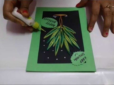 DIY Birthday Cardmaking Idea With Paper Quilling