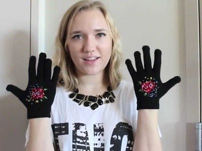 DIY Embroidered Tapestry Gloves inspired by Dolce & Gabbana FW12