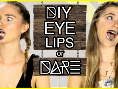 DIY Eyelip For Halloween?! DI-Dare with NinaAndRanda