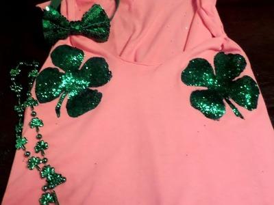 DIY Fabric Glitter Clover (St. Patty's Day!)