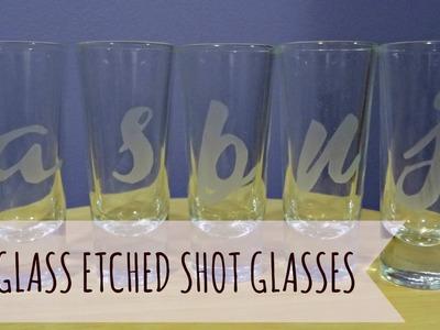 DIY: Glass Etched Shot Glasses | Joi Garcia