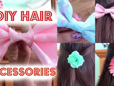 DIY Hair Accessories Bows with a TWIST ;)