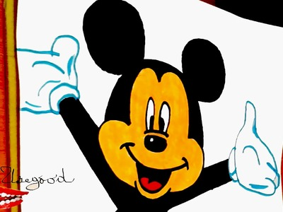 DIY How to draw easy stuff but cool: draw Disney cartoons Easy: MICKEY MOUSE FACE Easy | SPEEDY