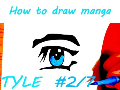 DIY How to draw easy stuff but cool on paper: draw MANGA Eyes for Beginners STEP BY STEP EASY | #2.7