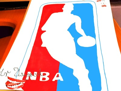 DIY How to draw easy stuff.things but cool on paper: draw NBA Logos: The NBA Logo EASY | SPEED ART
