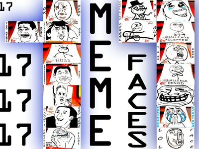 DIY How to draw MEME Faces STEP BY STEP Easy - 17 MEMES | draw easy stuff but cool on paper | 1.2