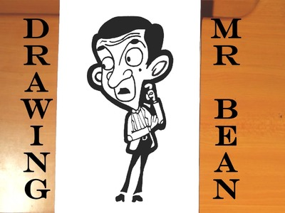 DIY How to draw MR BEAN Animated Cartoon EASY | draw easy stuff but cool on paper, SPEED ART