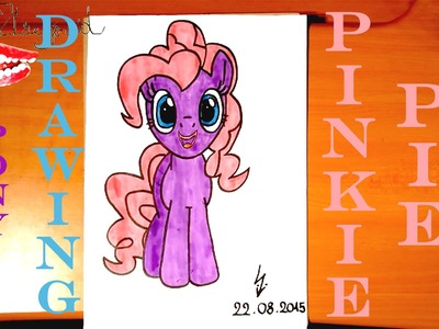 DIY How to draw PINKIE PIE from MY LITTLE PONY Easy, draw easy stuff but cool on paper | SPEED ART