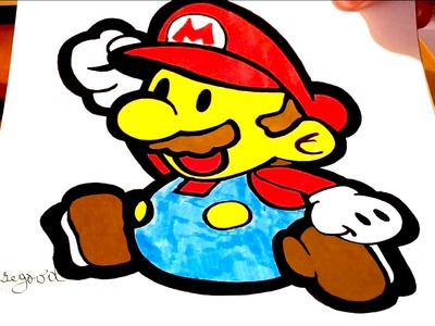 DIY How to draw Super Mario Characters EASY - Super Paper Mario | draw easy stuff.things | SPEED ART