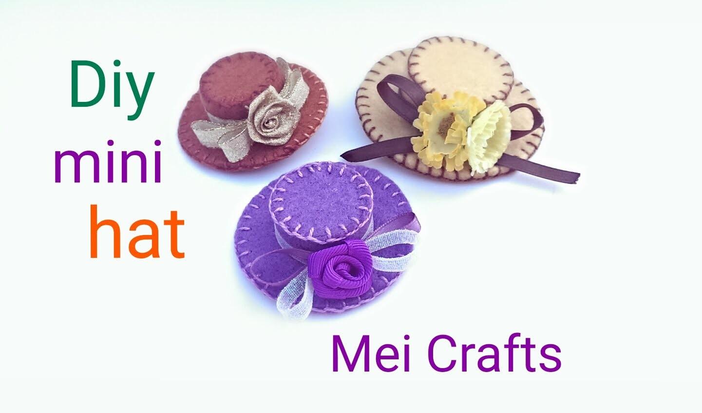 Diy: how to make a mini hat