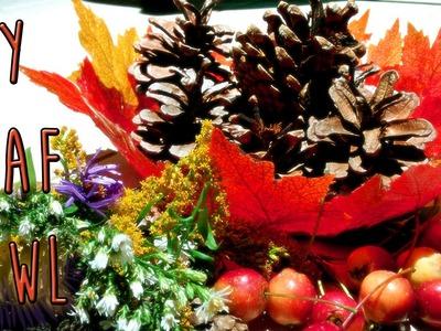 DIY Room Decor - Autumn Leaf Bowl