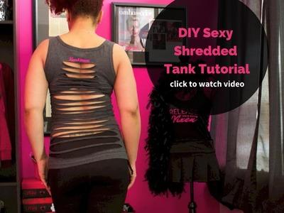 DIY Shredded Tank Top Tutorial