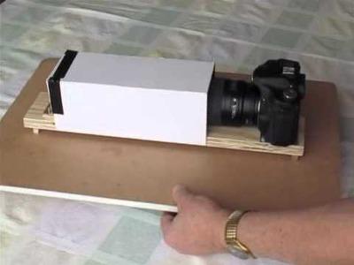 DIY Slide Scanner Scanning via DSLR
