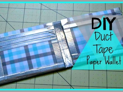 Duct Tape Paper Wallet Tutorial
