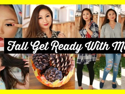 FALL GET READY WITH ME! 7 FALL OUTFIT IDEAS + DIY!