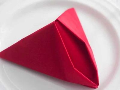 FISH 212 How to fold paper napkins Table napkin folding Napkin folds