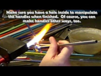 Glass Lampwork, Making of a Vessel, soft glass by Jeannie Cox
