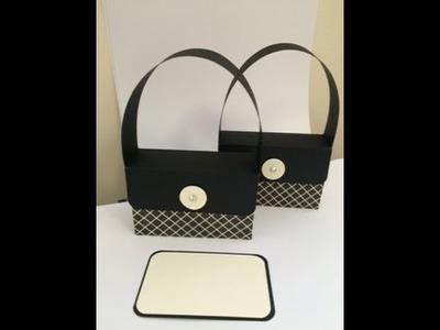 Handbag Giftcard Presenter Tutorial, Periwinkle, UK, Paper, Stampin' up demonstrator