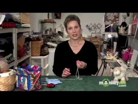 Holding the Crochet Hook and Yarn
