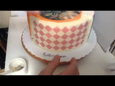 How to apply wafer paper to cakes