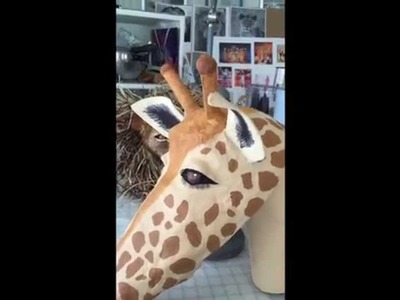 How to Make a Giraffe Mask Out of Paper Mache