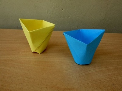 How to Make a Paper Cup -  Easy Tutorials