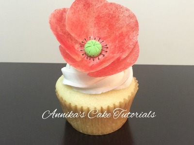 How to make a wafer paper poppy flower (Remembrance Day )