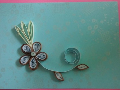 How to make Beautiful Quilling Gift Card With Simple Flower - Paper Arts.