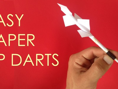How to make easy paper tip darts - vyouttar origami -