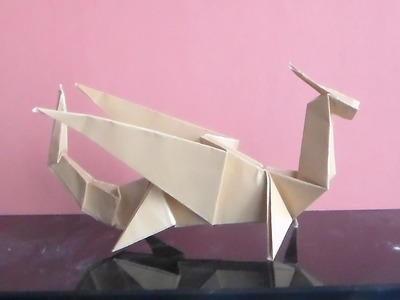 How to Make Paper Dragon Origami - dragon de papier - papel dragón