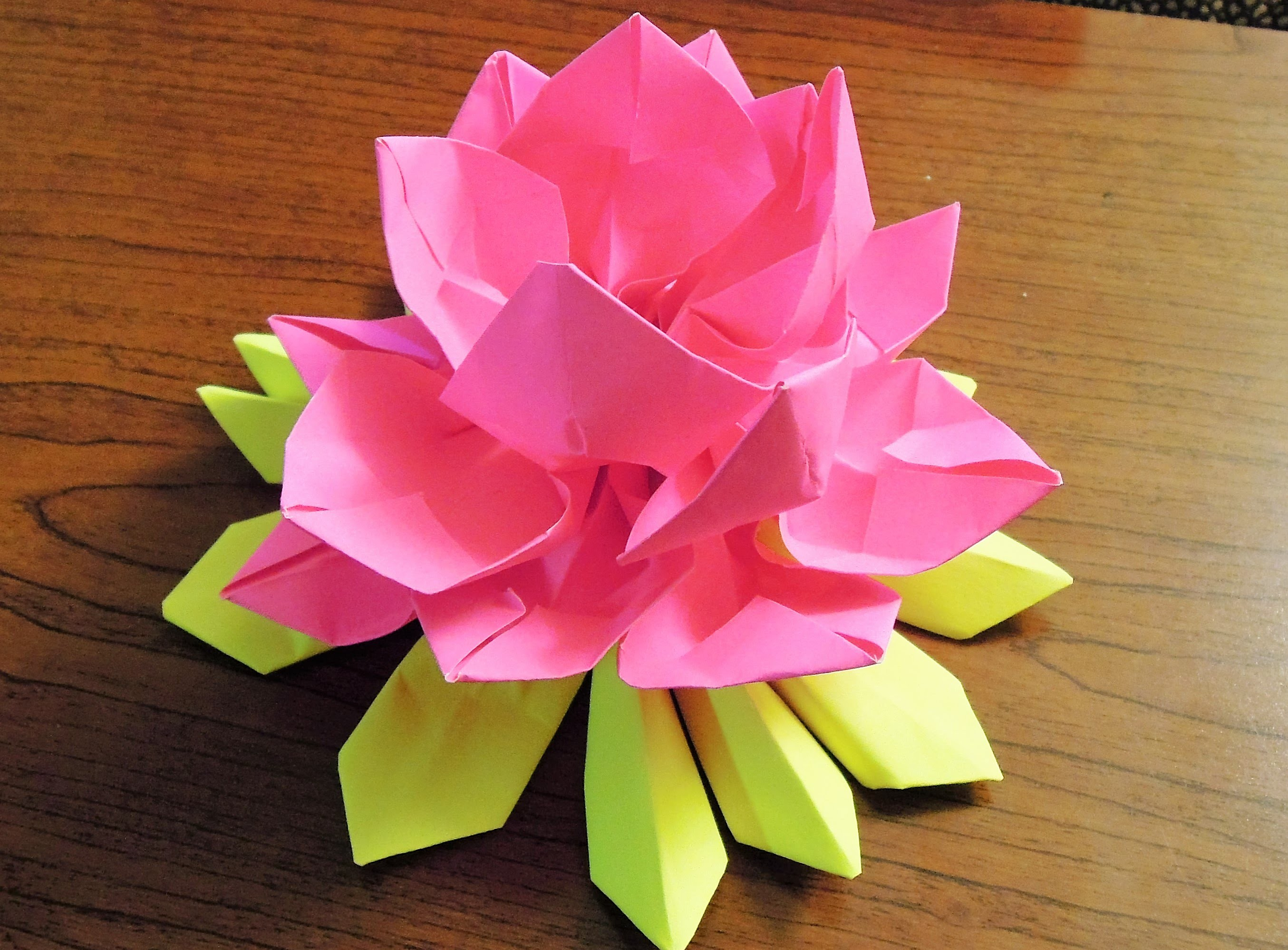 How to make paper origami lotus for How to make a lotus with paper