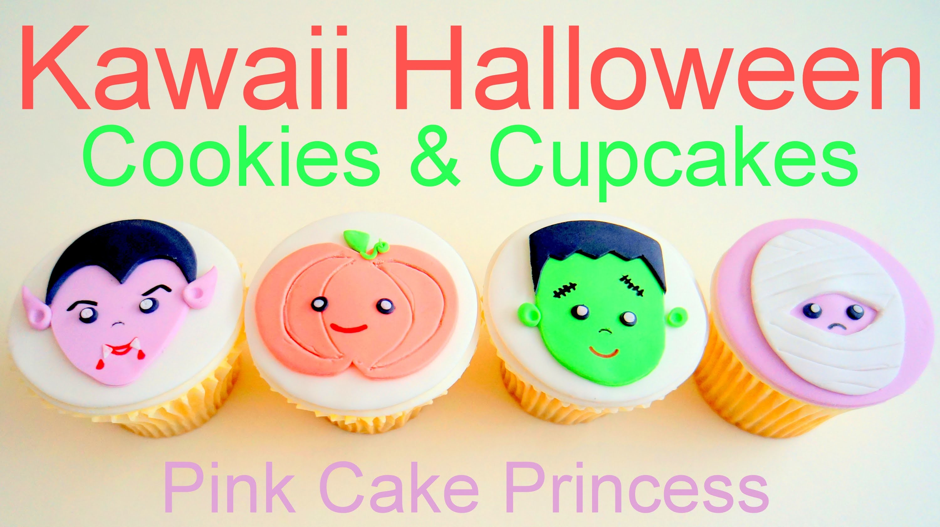 Kawaii Halloween Cupcakes & Cookie Pops How to by Pink Cake Princess
